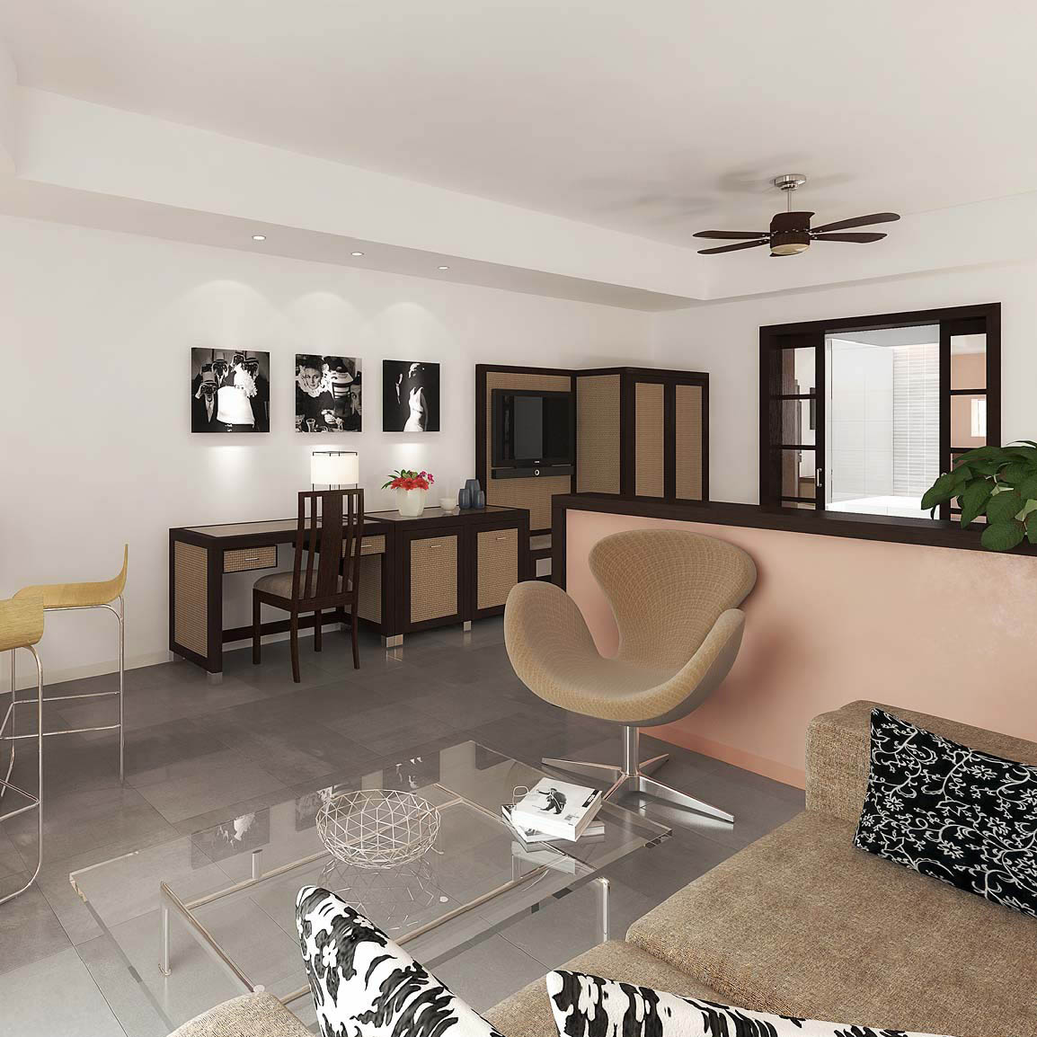 Architectural rendering 3d interior renderings of the for Designhotel lanzarote