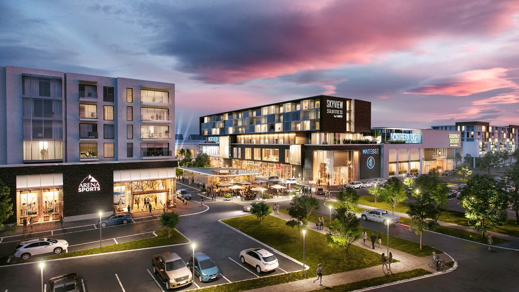 rendering shopping center Rosedale