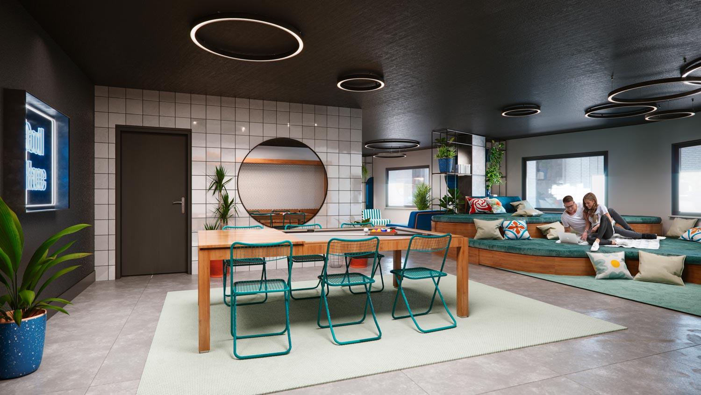 rendering student residence