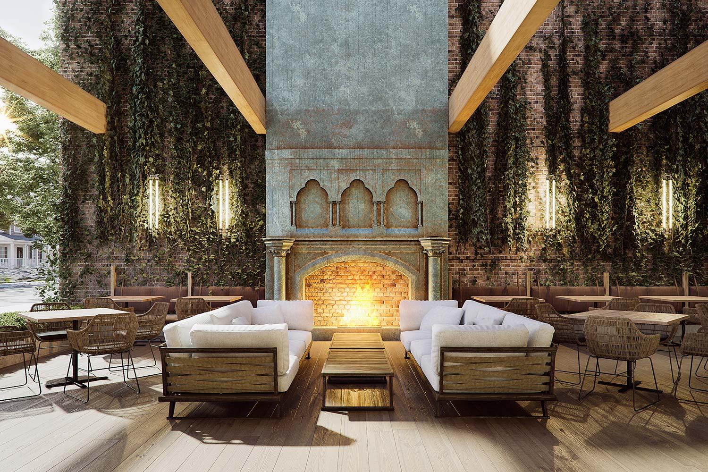 Restaurant rendering Gensler Chicago