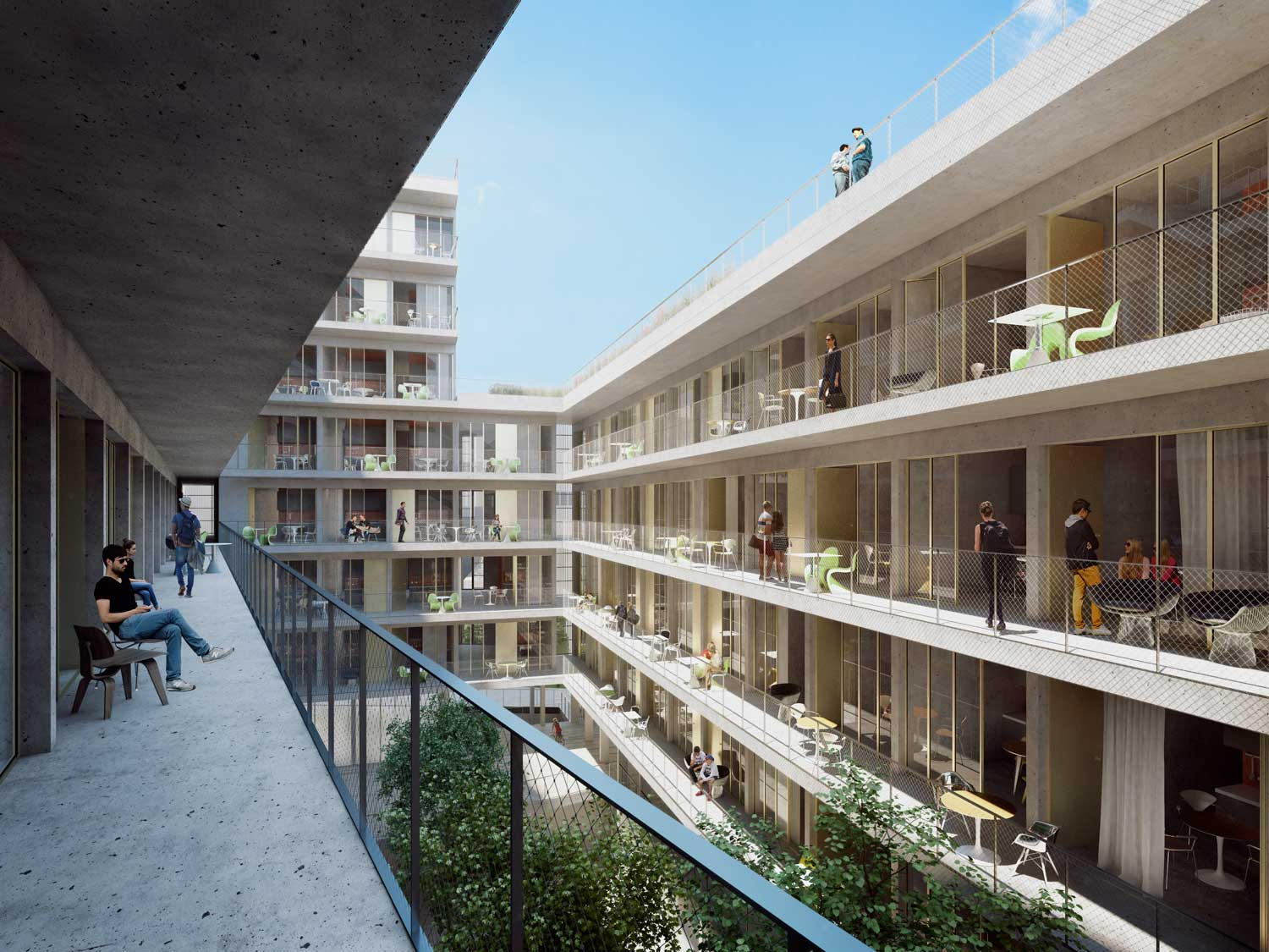 visualisation residence hall barcelona
