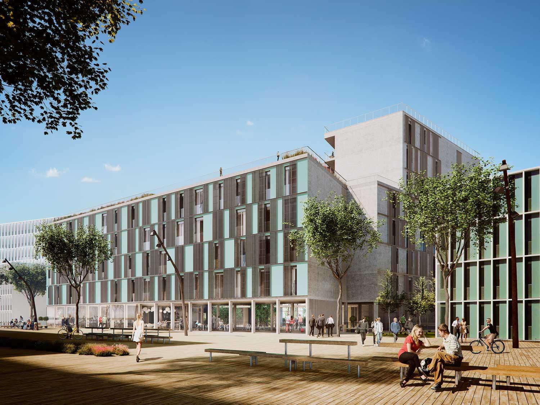 visualisation residence hall barcelona